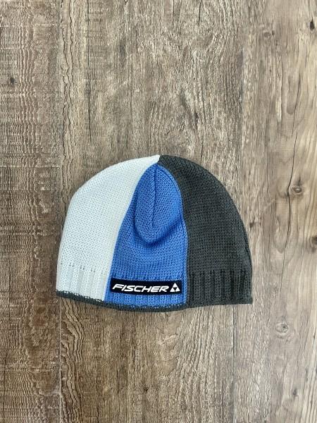 Fischer - Beanie Dario - white/blue/grey