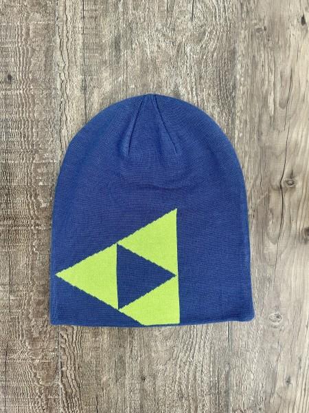 Fischer Beanie Long - navy blue/yellow